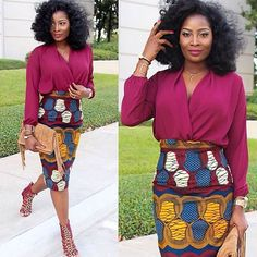 We are loving @ironyofashi in the Viv skirt from Attolle Clothiers. Available at www.zuvaa.com #africanfashion #africanprint