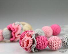 VERKAUF Krankenpflege-Kette häkeln Zahnen Halskette von vbhandmade