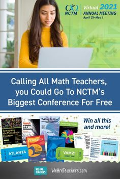 Math teachers: ready to move forward? You won't want to miss this huge NCTM virtual event. Check out the details (plus how to win PD!) Annual Meeting, Future Trends, Student Council, Teaching Strategies, Move Forward, Math Skills, Math Teacher, Professional Development, Mathematics