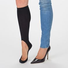 Women's No Show Black Light Sock – Keysocks Is this the coolest to wear with flats or heels!!