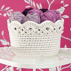 Free Pattern: Aster Basket