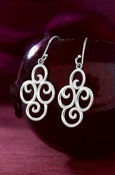 Four Swirl Ear Hooks from James Avery Jewelry