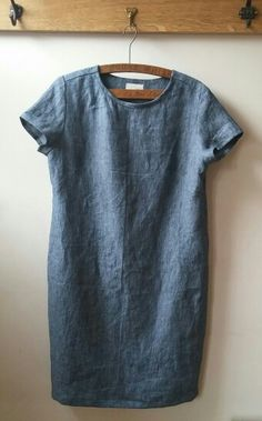 Merchant & Mills - Camber Dress - Scout Denim Linen - By The Crafty Baker