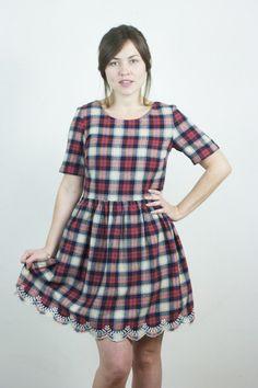 Cheeky in Checks Plaid Dress//Yumi