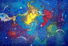 """""""A Peak of Heavens""""  watercolor painting by Ame"""