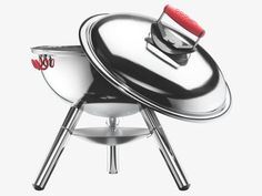 Fire up Bodum's FRYKAT charcoal grill as bbq season heats up! See the summer's hottest items in June 2015 Mini Charcoal Grill, Charcoal Bbq, Grill Area, Spring Steel, Galvanized Steel, Moma, Kitchen Dining, Grilling, Pique
