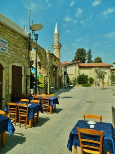 Limassol.Walk by old city streets                              …