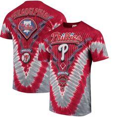 Philadelphia Phillies V Tie-Dye T-Shirt - Red/Gray - $24.99