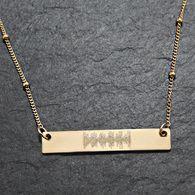 Custom Engraved Soundwave Necklace. Baby's Heartbeat.