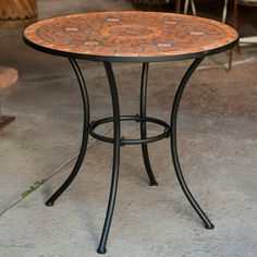 Outdoor Coral Coast Terra Cotta Mosaic Bistro Table - JF102743