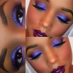 make up #purple