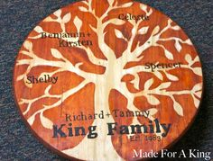 DIY Family Tree - wood burning - this is AWESOME! www.made4aking.com