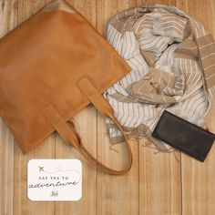 Adventuress Package: Caramel Leather Tote, Shawl & Wallet   Sseko Designs #EthicalFashion