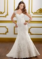 Alencon lace and (hello!) removable cap sleeves. <3 <3 <3 Mori Lee.