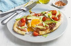 Breakfast Flatbreads. Maybe without the avocado.