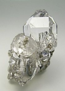 Doubly terminated Quartz with Albite inclusions and Hematite - Switzerland / Mineral Friends <3