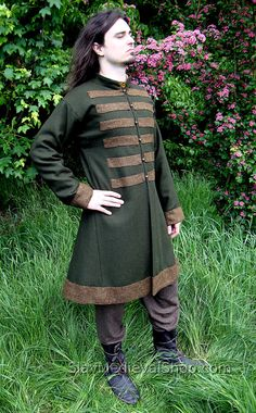 Early Medieval Scandinavian coat Viking coat by SlavMedievalShop