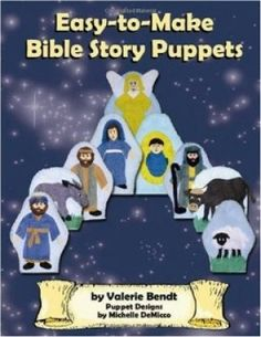 Easy-to-Make Bible Story Puppets includes patterns and directions for making 40 felt hand puppets. Children enjoy acting out scenes from their favorite Bible stories, thus aiding in memory retention, vocabulary development, and language skills. The puppets are inexpensive, easy to make, and durable, making them a truly valuable resource.
