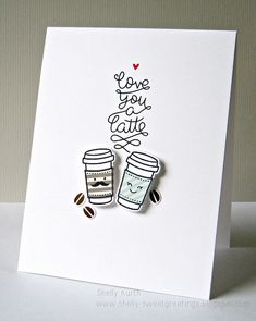 Lawn Fawn - Love You a Latte + coordinating dies _ super sweet card by Shelly via Flickr - Photo Sharing!