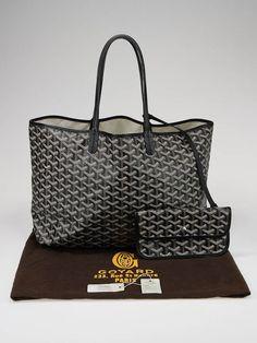 ... Goyard Black Coated Canvas St. Louis PM Tote Bag