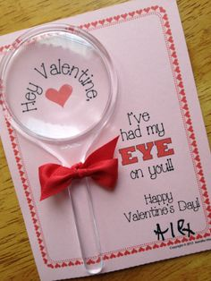Magnifying Glass Valentine Card