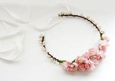 Pembe Güller Çiçek Taç. rosesandlemons tarafından gelinlik çiçek taç