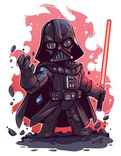 Chibi Vader by DerekLaufman.devi on - Star Wars Vader - Ideas of Star Wars Vader - Chibi Vader by DerekLaufman. Star Wars Fan Art, Star Trek, Star Wars Karikatur, Tableau Star Wars, Anakin Vader, Darth Maul, Star Wars Cartoon, Darth Vader Cartoon, Chibi Characters