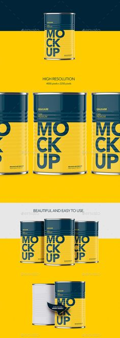 Can With Pull Tap MockUp - Front Angle #package #packaging