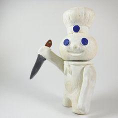 Killer Pillsbury Doughboy Video Prop by AthenasPlayhouse on Etsy