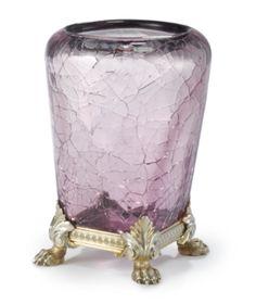 A Fabergé Gilded Silver-Mounted Craquelé Glass Vase, Workmaster Michael Perchin, St. Petersburg, circa 1890 - Sotheby's