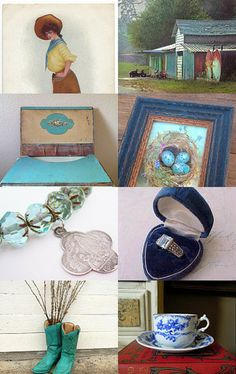 Farmhouse Blue for You!  TVAT by Kristin on Etsy--Pinned with TreasuryPin.com