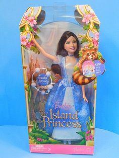 Barbie Island Princess Doll Maiden in Blue Dress Brunette NEW Disney Barbie Dolls, Princess Barbie Dolls, Barbie Skipper, Barbie Movies, Vintage Barbie Dolls, Mattel Barbie, Barbie And Ken, Princess Rapunzel, Barbie Stuff