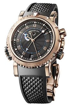 For Brave Ones. House of Breguet Masterpiece. Breguet #Watch Marine Black Dial Rubber Men's #Automatic ( 5847BR/Z2/5ZV , price over $36,000 )