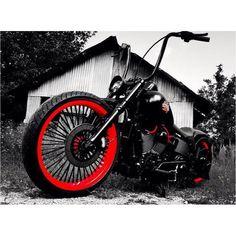 @steven_tenney725 #harleydavidson #showoffmyharley #softail #nighttrain #bikelife #follow #instadaily #instagood #badass #bobber #chopper #heartlandbiker #heartlandusa #23inchwheel #ridewrightwheels #custom #customharley #apes #slammed #ftw #lifebehindbars #livetoride #ridetolive #repost #sittinpretty  by showoffmyharley