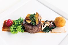 Beef Tenderloin with Ume Natto Veal Jus & Croquettes - Marco Garcia