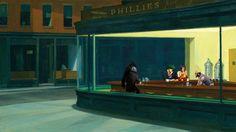 Nighthawks (Edward Hopper) - Cowboy Bebop #mashup