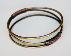 "Art Smith  American  Bracelet, c. 1960  Brass and copper  Stamped ""Art Smith""  3 1/4"" x 5/8"""