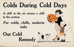 Vintage Cold Remedy Card --- because of course colds and malaria go into the same category