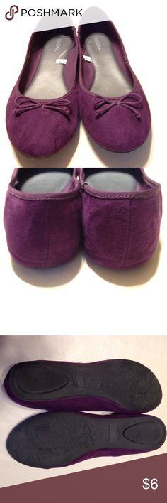 Pretty purple flats! Only worn a handful of times and they're in good shape. Merona Shoes Flats & Loafers