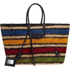 Balenciaga Panier Basket Bag - Love the colors and tribal weaving!