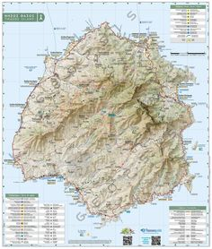 Maps & Guides for Greek Mountains & Islands Thasos, Islands, Maps, Greek, Mountains, Blue Prints, Map, Greece, Cards