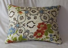 Cotton and Silk Blend Floral Print Pillow Cover by TheLuxeCottage, $15.00