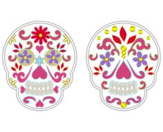 Sugar Skull, Day of the Dead Sugar Skull embroidery applique, Dia de los Muertos, Mr and Mrs - embroidery designs 4x4 and 5x7 by artapli on Etsy