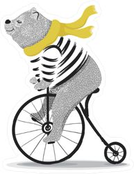 animal illustration / bear cycle / Circus show illustration.Performance of the bear on bike/Hand drawn Illustration. Racer big bear/ T-shirt graphics / cute cartoon characters. Illustration D'ours, Bicycle Illustration, Book Illustrations, Baby Cartoon, Cartoon Kids, Cartoon Images, Desenho Kids, Art D'ours, Bike Drawing