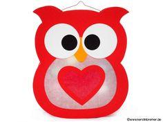Eulen Herz Laterne für den Schneideplotter ♥ von kerstinbremer.de. So awesome! Heart owl lantern ♥ #cutfile #svg #diy