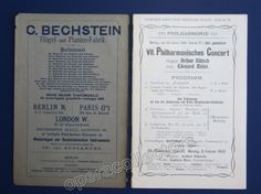 Risler, Edouard and Nikisch, Arthur - Program 1909