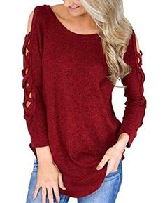 Gro/ße Gr/ö/ße TIFY Womens Fashion Cold Shoulder Blusen Tiered Spitze Appliques V-Ausschnitt T-Shirt Tops