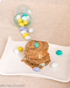 Banana Cookies with Peanut Butter M     #easter #peanut butter #banana #cookies