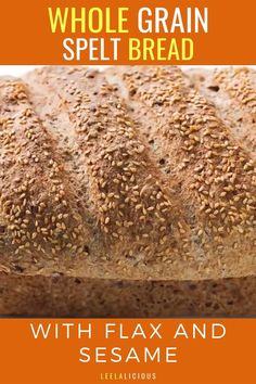 This nutritious Whole Grain Spelt Bread Recipe with flax and sesame seeds is super easy to make. It is also much better and more economical than store bought bread. Spelt Bread, Bread Bun, Bread Recipes, Grains, Homemade, Buns, Super Easy, Seeds, Store