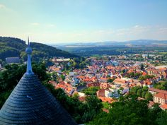 Landstuhl, Germany as seen from Burg Nanstein